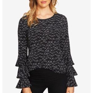 CeCe by Cynthia Steffe Bell Sleeve Bow Blouse